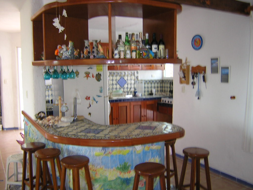 Furnished beach house at San Benito. Kitchen