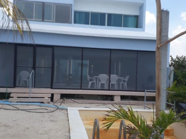 Furnished beachfront house at Celestun