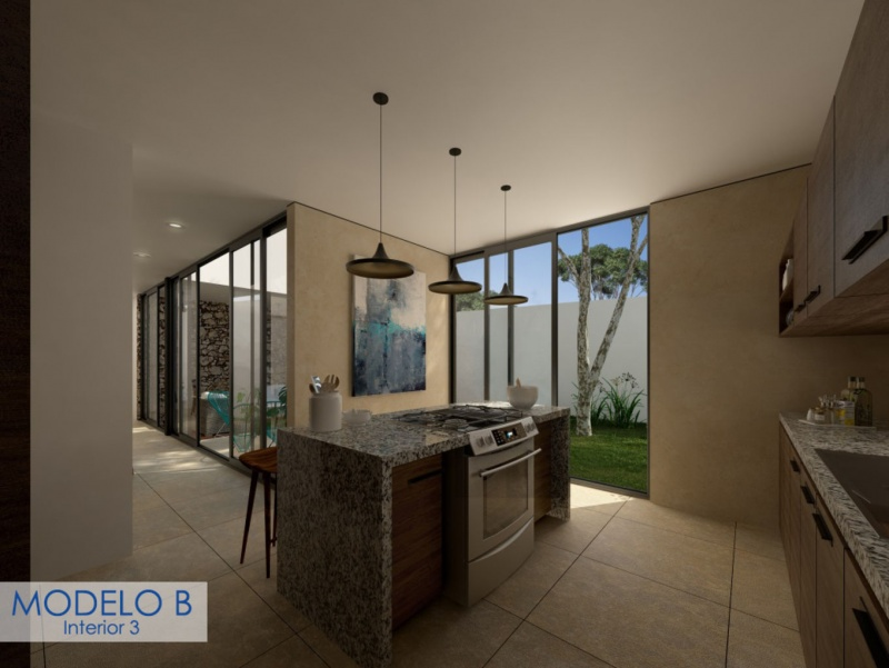 Houses for sale at Cholul (Salamanca Cholul). Model B Kitchen