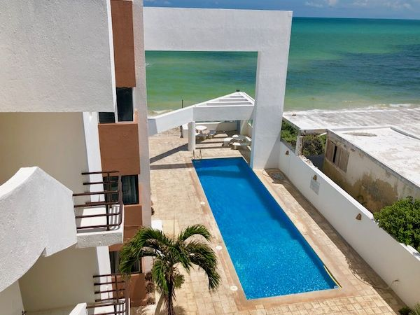 Beach front condo at Progreso