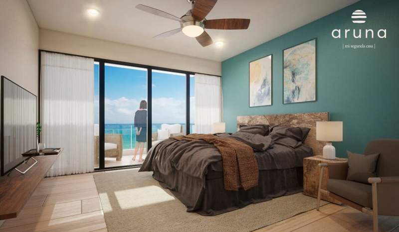Beachfront apartments at San Bruno. Bedroom
