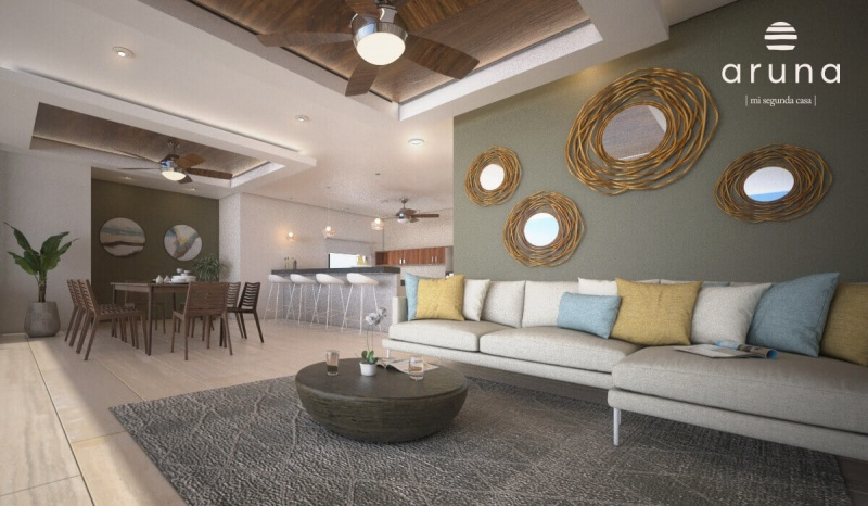Beachfront apartments at San Bruno. Living room