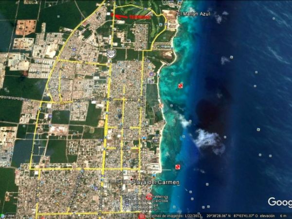 Magnificent commercial land for sale at Playa del Carmen, Quintana Roo