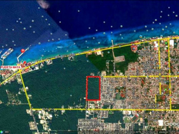 Commercial land lot at Cozumel, Quintana Roo