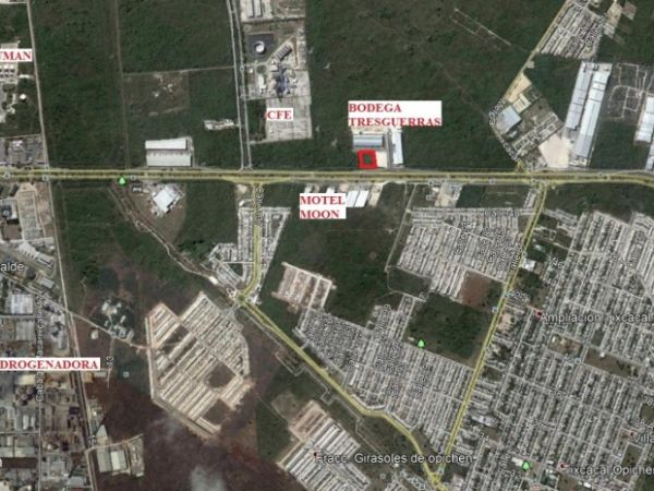 Commercial land for rent at Periferico. Google location