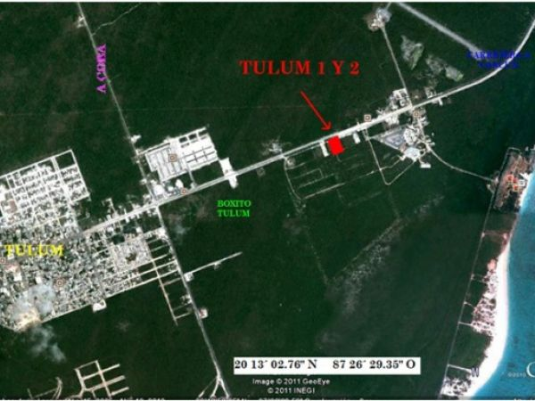 Residential or commercial land lot at Tulum on federal highway