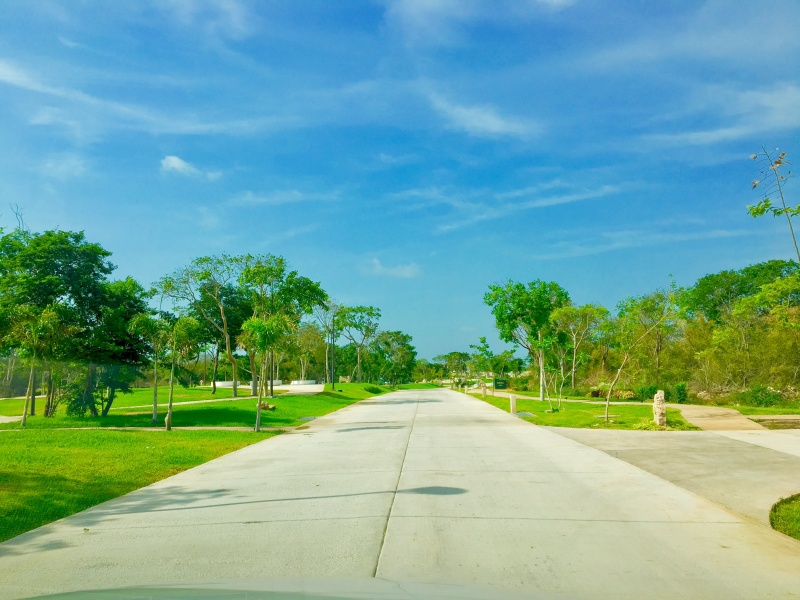 Residential land north of Merida at Parque Natura Residencial. Streets