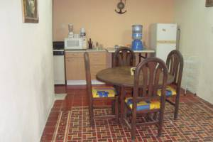 Furnished beach house for rent at Chicxulub in second row. Dining room