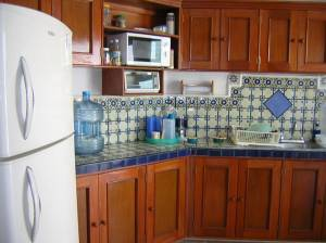 Kitchen. Furnished beach house at San Benito.