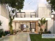 House for sale at Temozon Norte, excellent location. Model A Pool