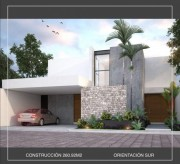 Houses for sale at Barlovento Residential Temozon. Model B. Facade