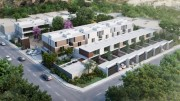 Apartments for sale in Montebello at Privada Taiga. Air view
