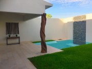 Pool. House for sale in exclusive gated community at Temozon Norte.
