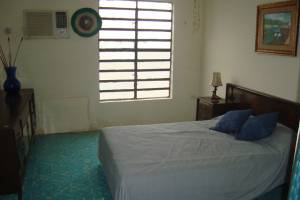 Bedroom 2. Furnished beach house for rent at Chicxulub in second row.