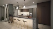 Residential house north of Merida at Parque Natura Residencial. Kitchen
