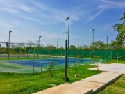 Residential land north of Merida at Parque Natura Residencial. Tennis court club house