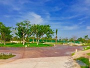 Residential land north of Merida at Parque Natura Residencial. Roundabouts and walkers