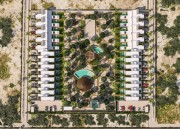 Villas and townhouses for sale at Chicxulub, Yucatan. General view