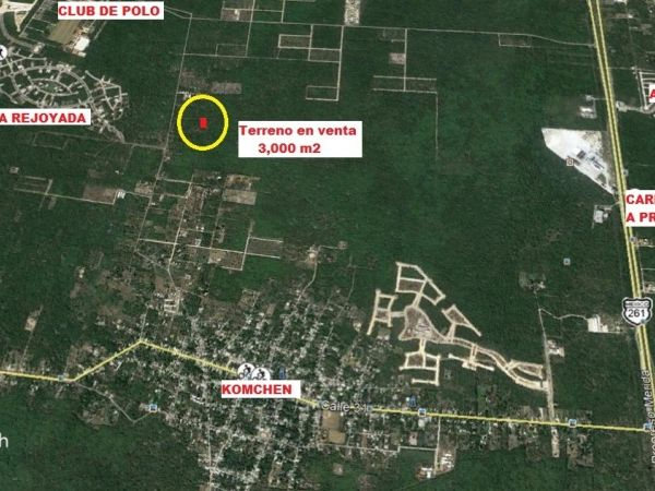 Land for sale at Komchen, Yucatan (corner)