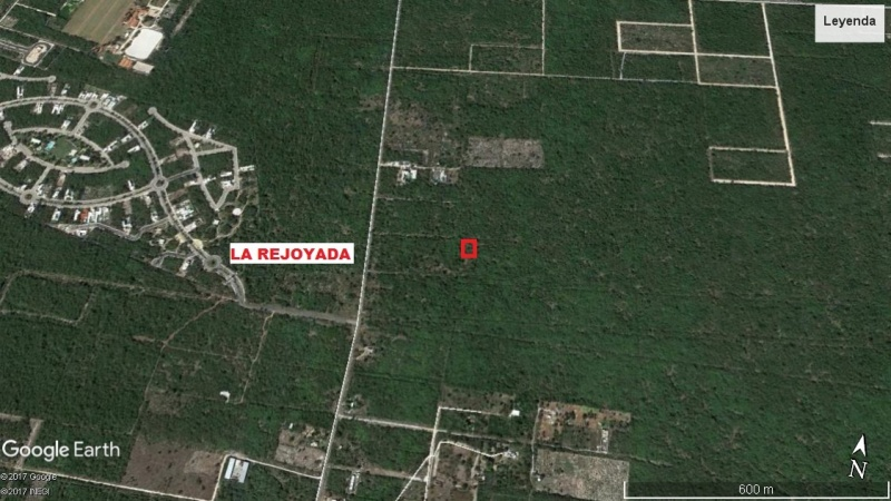 Land for sale at Komchen, Yucatan (corner). Google plane